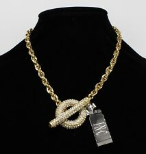 Inc International Concepts Gold Tone Crystal Pave Toggle Necklace