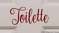 TOILETTE Vinyl Sticker - Bathroom Door Sign Restroom Toilet - Die Cut Decal