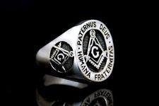 Masonic Freimaurer Silber 925 Ring COMPASS & SQUARE MASON Masonic