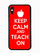 Keep Calm Teach on Red For Iphone XS MAX 6.5 2018 Case