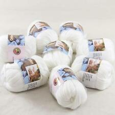 8BallsX50g Special Thick Worsted 100% Cotton Hand Knitting Yarn White  422-01