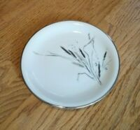 """Easterling Bread Plate 6 1/4""""   China Porcelain '58 Ceres Pattern Wheat Silver"""