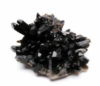 4.95lb Natural Clear Black Quartz Point Crystal Cluster Healing Mineral Specimen