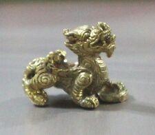 1 Pcs Brass Pi Yao / Pi Xiu Feng Shui Handcraft Fortune Wealth Protection NC2