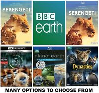 BBC EARTH * Many Options to Choose From * 4K or Blu-ray or DVD Read Description!