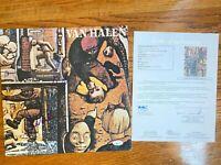 EDDIE & ALEX VAN HALEN SIGNED FAIR WARNING LP ALBUM AUTOGRAPH JSA COA RECORD