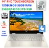 """2020 HP 14"""" TouchScreen x360 Laptop Intel i5-1035G1, to 3.6GHz,32GB RAM &1TB SSD"""