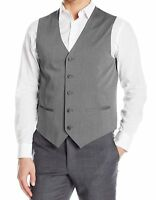 Perry Ellis NEW Gray Mens Classic Fit Chambray Vest NWT!