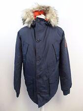 Mens Superdry Everest Coat Indigo/Jaffa Large RRP £134.99 box57 30 E