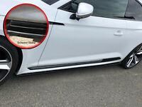 CUP3 Seitenschweller Schweller Sideskirts ABS für Audi RS5 F5 Schwarz Glanz