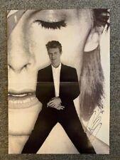 David Bowie Autograph 1990 Sound + Vision Photo Book