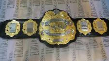 New IWGP V2 Championship Belt, Adult Size & Metal Plates Real Strap Leather