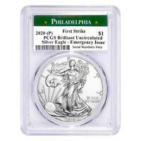 2020 (P) 1 oz Silver American Eagle PCGS BU FS (Philadelphia) Emergency Issue