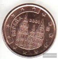 Spanien E 1 2001 Stgl./unzirkuliert 2001 Kursmünze 1 Cent