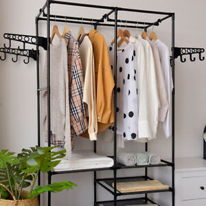 Heavy Duty Clothes Rail Rack Garment Hanging Display Stand Shoe Storage Shelfs