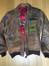 Vintage Avirex S 46in A-2 Leather Flying Jacket Excellent