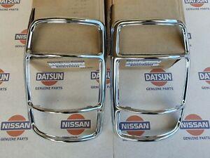 Chrome Rims Rear RH & LH Datsun Nissan 1200 Genuine Fits sunny truck B120 ute