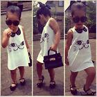 Sequins Baby Girls Summer Dress Sleeveless Casual Cartoon Dresses Skirts Clothes