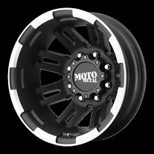 16 Inch Black Wheels Rims Dodge RAM 3500 Chevy Silverado Ford F-350 Dually DRW