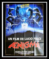 AENIGMA Lucio Fulci 4x6 ft Vintage French Grande Movie Poster Original 1987