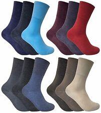 3 Pairs Ladies Thin Antibacterial Wide Top Non Elastic Thermal Diabetic Socks