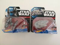 Star Wars The Force Awakens Hot Wheels MOC Millennium Falcon & Tie Fighter