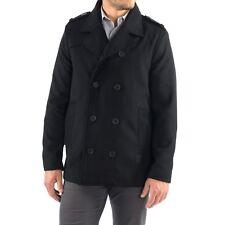 Alpine Swiss Jake PEA Coat mezcla de lana para hombre vestido de doble botonadura chaqueta chaquetón