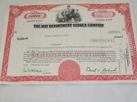 The May Department Store Company Common Stock Certificate