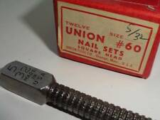 "1 VTG Union No60 5/32"" Nail Set Cabinetmaker NOS USA Square Head MF Carpenter"