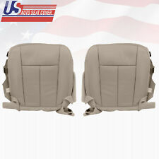 2009 2010 Ford Expedition Driver and Passenger Bottom Leather Seat Cover Gray