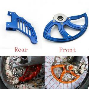 For Husqvarna TC/FC 125-450 Blue CNC Front Rear Disc Rotor Brake Guard Protector