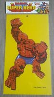 Poster Marvel Super Hero   THE THING 40 X 23 CM CARTONCINO VINTAGE  1979 MINT