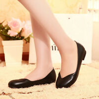 Womens Round Toe Dancing Mary Jane Slip On Pump Casual Ballet Shoes Plus Size