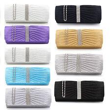 Bulk Womens Designer Satin Diamante Party Clutch Hand Bag Purse Wholesale