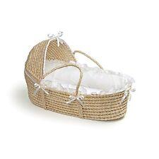 Moses basket For Dolls Bassinet Baby Cradle Crib Hood Bedding Nursery Bed New