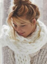 NEW Free People Maggie Maye Chunky Knit Scarf in Ivory