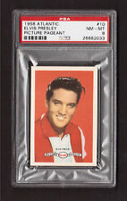 Elvis Presley 1958 Atlantic Picture Pageant Film Star Card #10 PSA 8 NM-MT