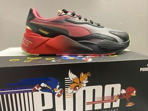 Puma x SEGA RS-X3 SONIC THE HEDGEHOG SHADOW HIGH RISK RED BLACK 374313-01 SZ 13