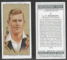 PLAYER'S 1934 CRICKETERS L.F.TOWNSEND Card No 27 of 50 CRICKET CIGARETTE CARD