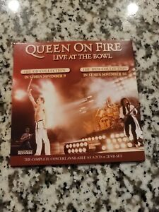 On Fire Live At The Bowl US CD Promo Sampler In Store - Queen Freddie Mercury