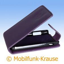 Flip Case Etui Handytasche Tasche Hülle f. LG E440 Optimus L4 II (Violett)
