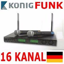 KÖNIG 2 Stück Wireless Prof Mikrofonsystem Funk Mikrofon Dynamisch Set Gesang