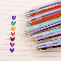 5X Schreibwaren Multi-Color Kugelschreiber 6 Farben Kugelschreiber Studie Pen DI