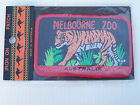 VINTAGE MELBOURNE ZOO TIGER EMBROIDERED SOUVENIR PATCH WOVEN CLOTH SEW-ON BADGE