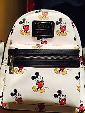 New DISNEY LOUNGEFLY MICKEY MOUSE PURSE MINI BACKPACK SYLE WHITE & BLACK Bag