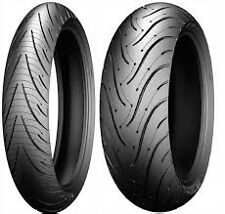 TWO TIRE SET 120/70ZR17 & 180/55ZR17 MICHELIN SPORT TOURING MOTORCYCLE TIRES