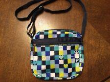 Iscream Peace Nylon Zipper Bag Blue Green & White Brand New
