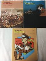 Avalon Hill: The General Magazine: Volume 17 Number 1, 2 & 3 Lot of 3 Books