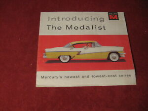 1956 Mercury Medalist Sales Brochure Booklet Book Catalog Old Original