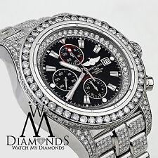 Men's Diamond Breitling Super Avenger Watch black Index Dial Model A13370